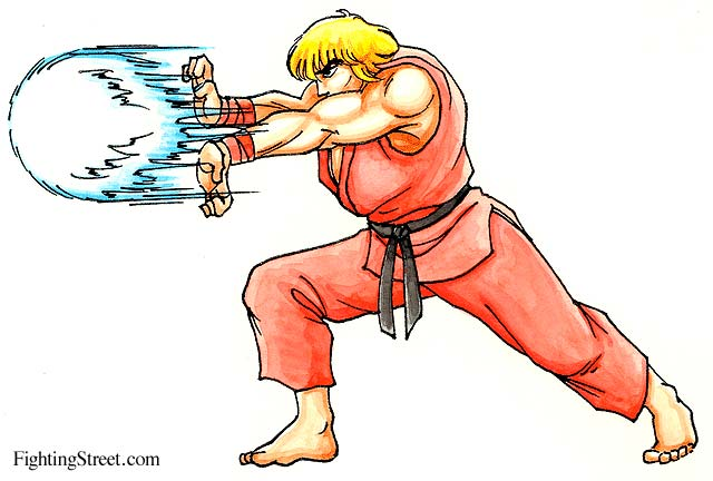 Street Fighter 2 Manual Move List Artwork