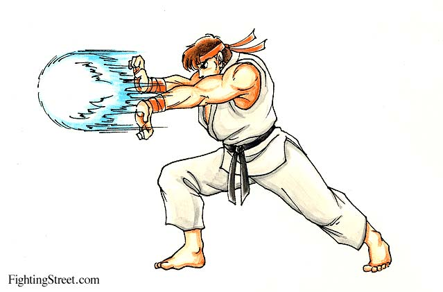 Street Fighter 2 Manual Move List Artwork