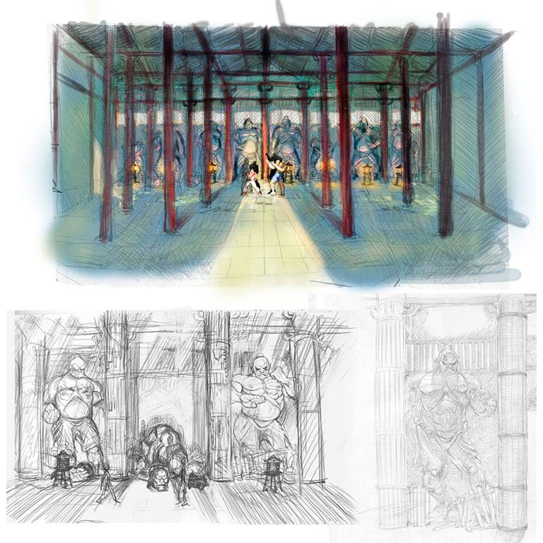 Stages Of Street Fighter IV (Concept Art